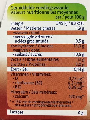 Smooth Chocolate - Informations nutritionnelles - fr