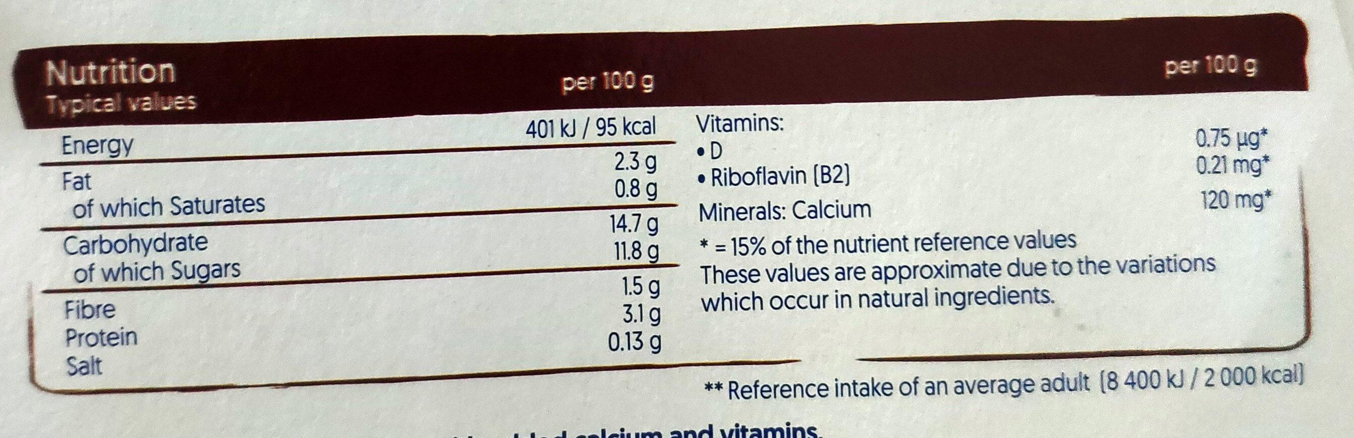 Devilishly dark chocolate plant-based dessert - Nutrition facts - en