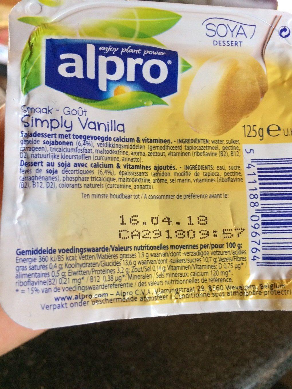 Creme Dessert Vanille - Informations nutritionnelles - fr