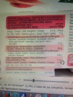 SOYA YOFU FRAMBOISE-VANILLE - Nutrition facts
