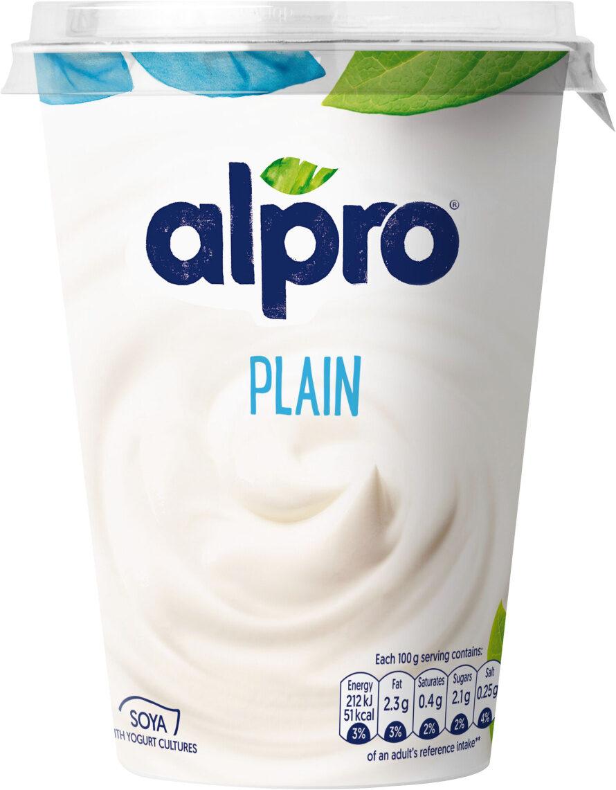 Simply plain - soya yogurt - Product - en