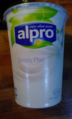 Alpro simply plain - soya yogurt - Product