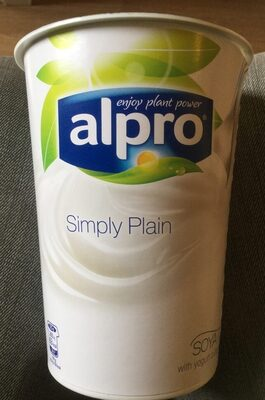 Simply plain - soya yogurt - Product - en