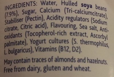 Alpro simply plain - soya yogurt - Ingredients