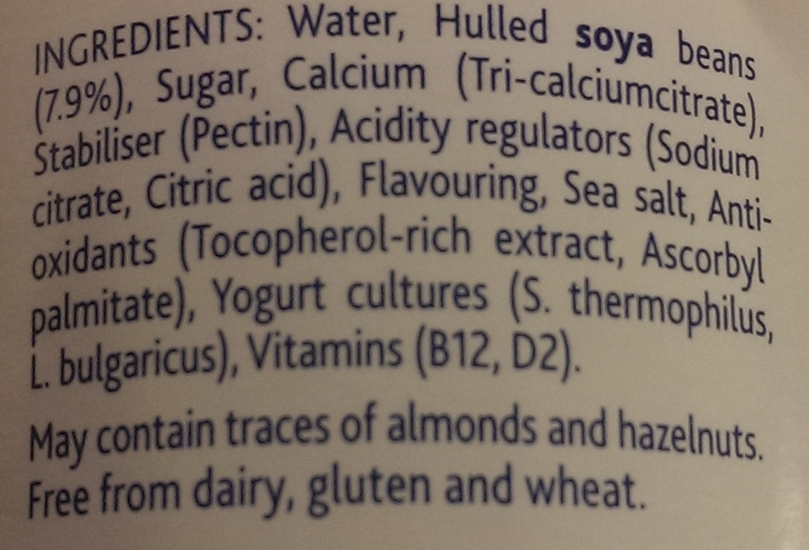 Alpro simply plain - soya yogurt - Ingredients