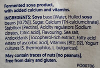 Plain soy - Ingredients - en