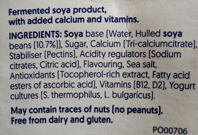 Plain soy - Ingredients - en