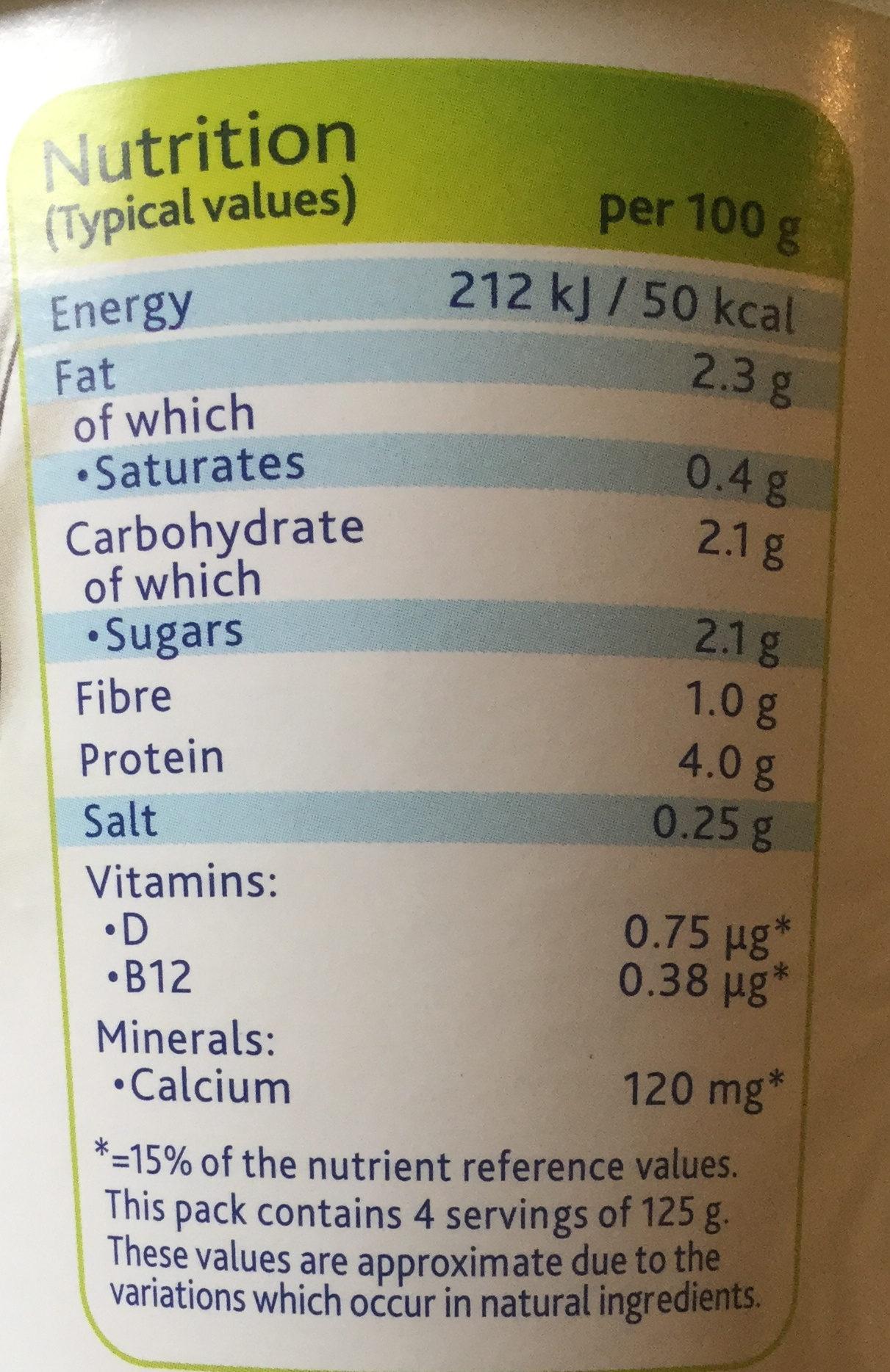 Simply plain - soya yogurt - Nutrition facts - en
