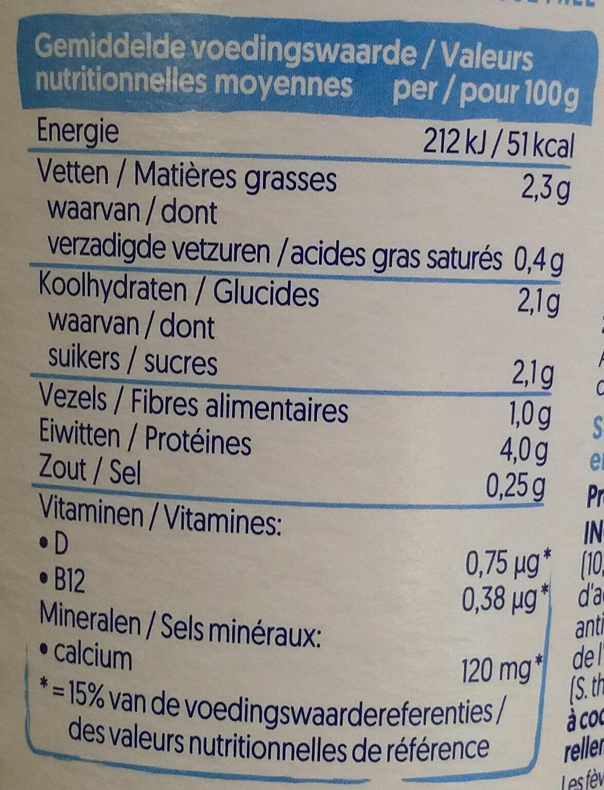 Nature soya - Informations nutritionnelles - fr
