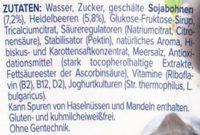 alpro Heidelbeere - Inhaltsstoffe