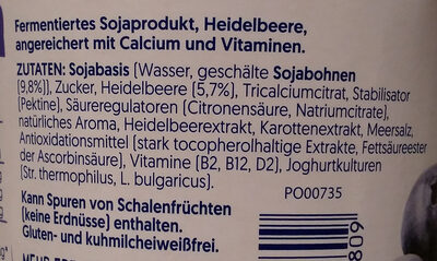 Sojajoghurt Heidelbere - Ingredients - de