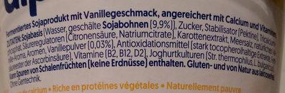 Alpro Soya Vanille Geschmack - Ingredients - de