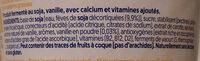 Alpro Soya Vanille Geschmack - Ingrédients - fr