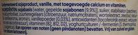Vanille soya - Ingrediënten - nl