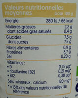 Plain with almond - Informations nutritionnelles - fr