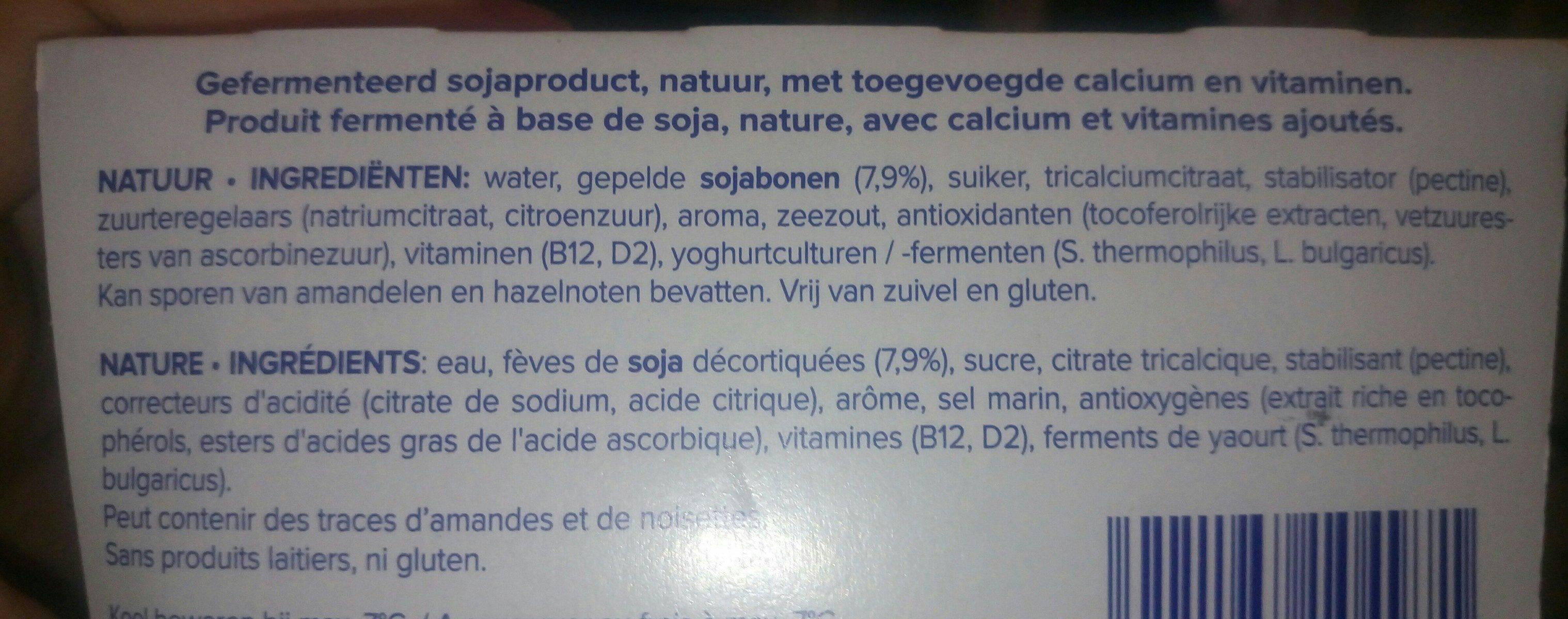 Alpro nature - Ingrediënten