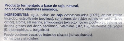 Alpro nature - Ingredientes