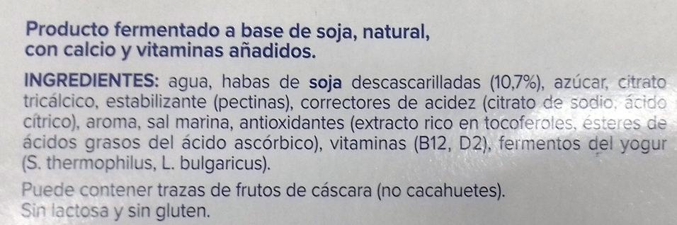 Postre de Soja Natural - Ingrediënten - es
