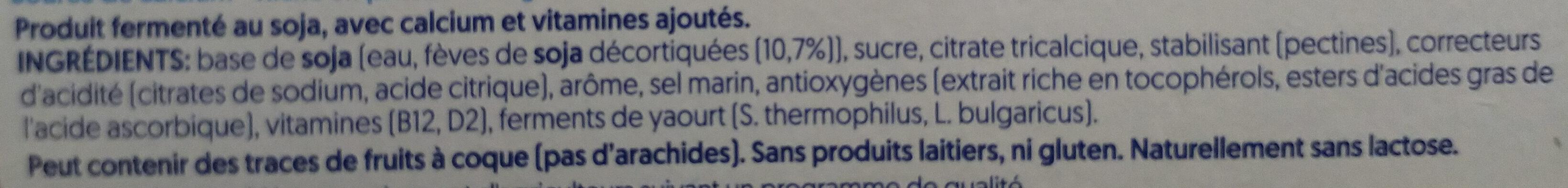 Nature Soya - Ingredients - fr