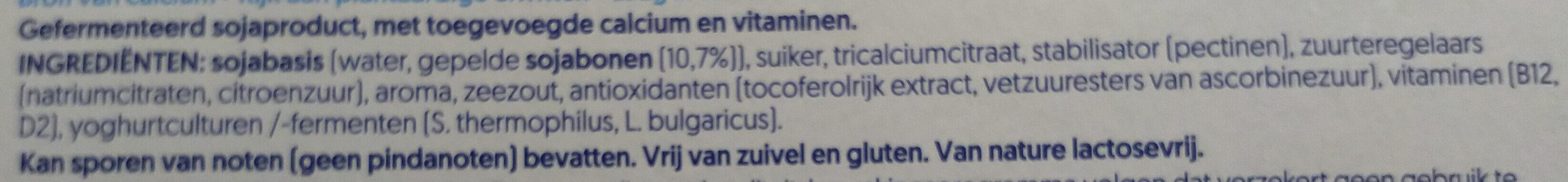 Nature Soya - Ingrediënten - nl