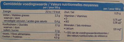 Nature Soya - Voedingswaarden - fr