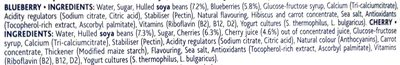 Yaourt au soja cerise et myrtille - Ingredients - en