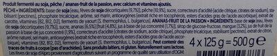 Soja pêche ananas-passion - Ingredientes - fr