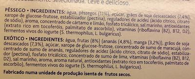 Yaourt au soja saveur pêche/fruits exotiques - Ingredientes