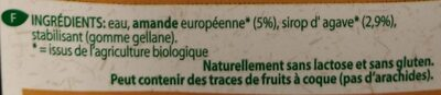 Boisson Aux Amandes Bio - - Provamel - Ingrediënten - fr