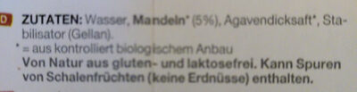 Mandel Pflanzendrink - Ingredients - fr
