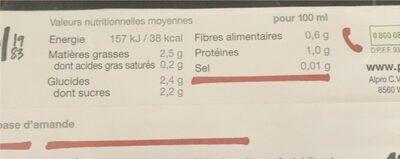Boisson Amande - Voedingswaarden - fr