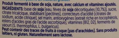 Mild & Creamy Nature - Ingredients - fr