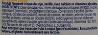 Mild & Creamy Vanille - Ingrédients - fr