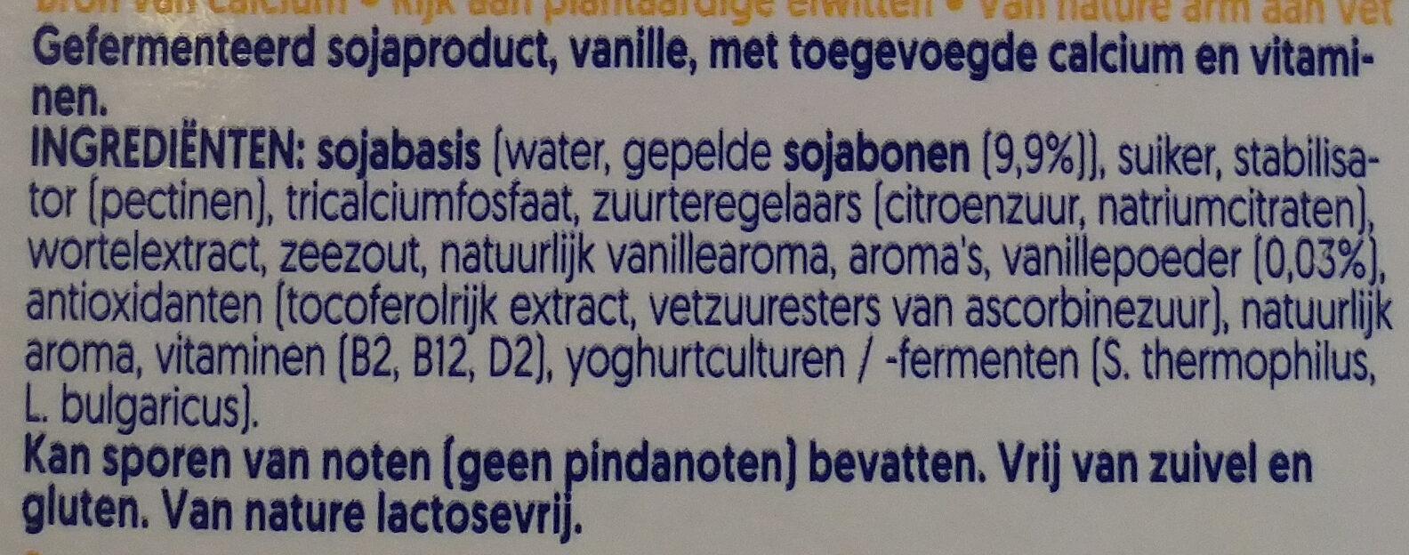 Mild & Creamy Vanille - Ingredients - nl