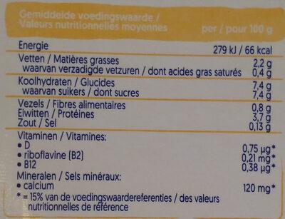 Mild & Creamy Vanille - Nutrition facts - nl