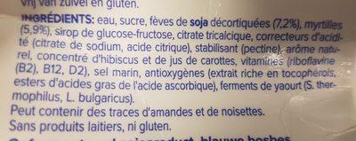 Alpro Mild & Creamy Myrtille - Ingrédients