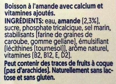 Mandel - Ingrédients - fr