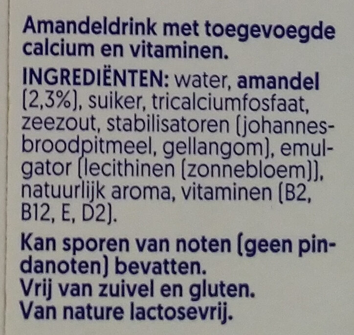 Mandel Original - Ingrediënten - nl