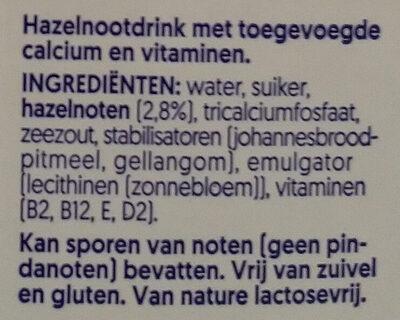 Noisette - Ingrediënten - nl