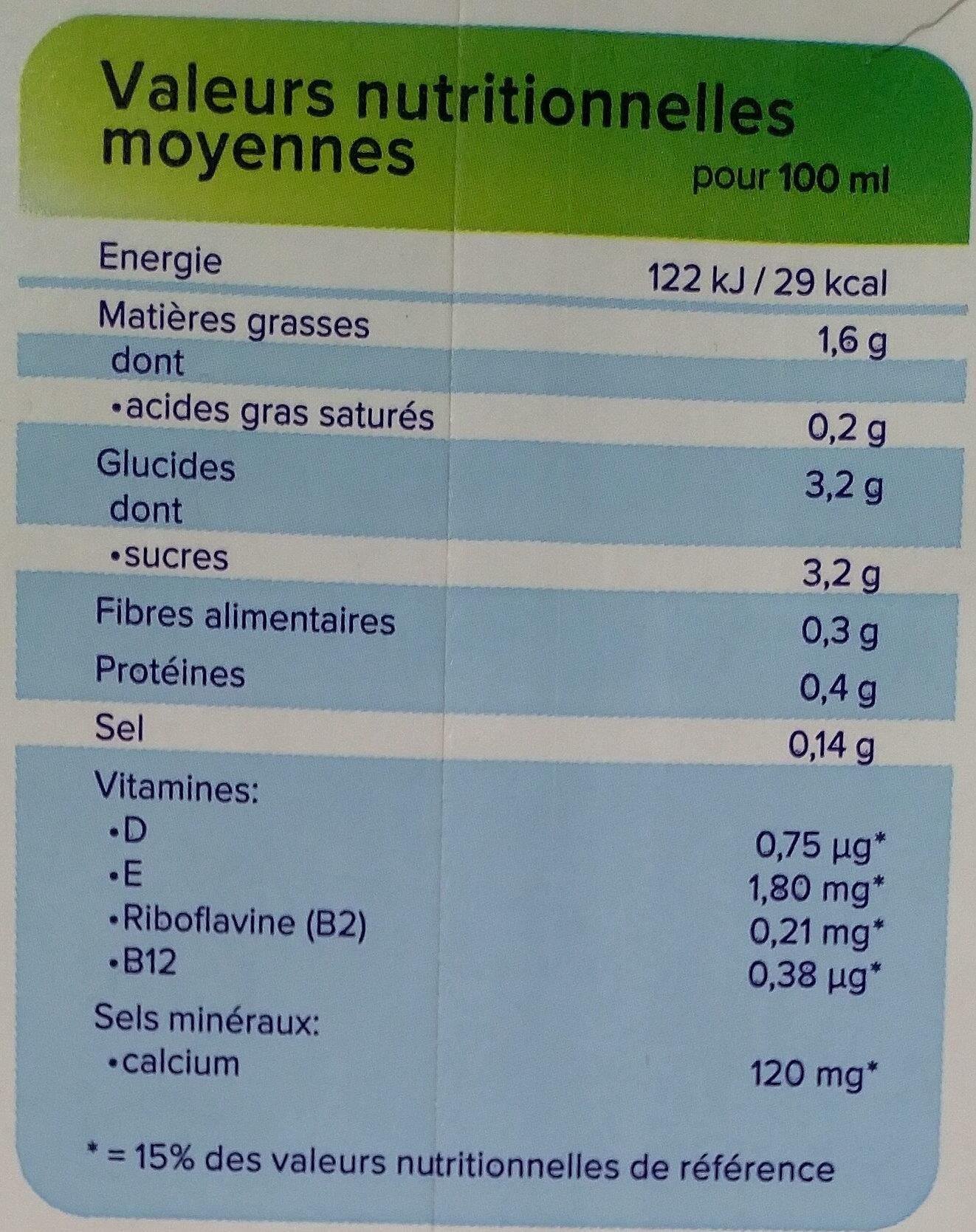 Noisette Original - Informations nutritionnelles - fr