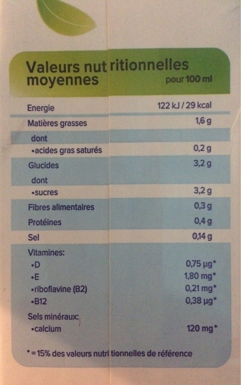 Noisette Original - Nutrition facts