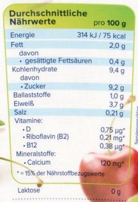 Alpro Kirsche - Nutrition facts
