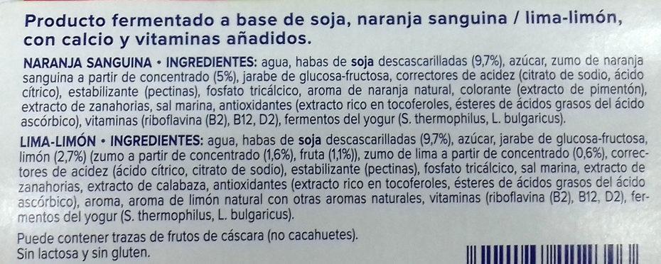Yaourt agrumes - Ingredientes - es