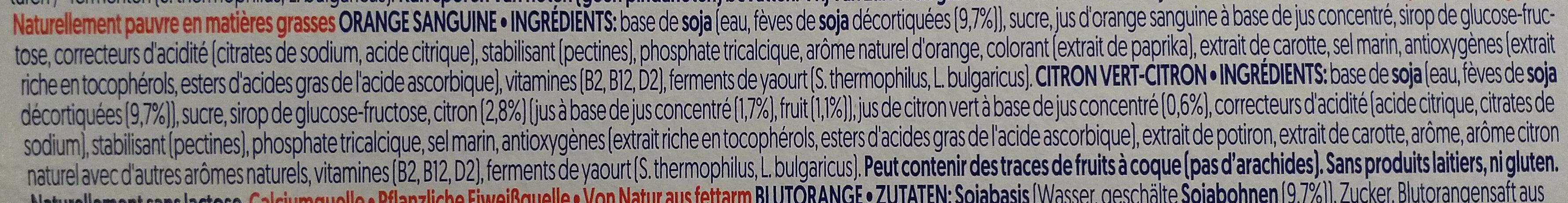Yaourt agrumes - Ingredients - fr