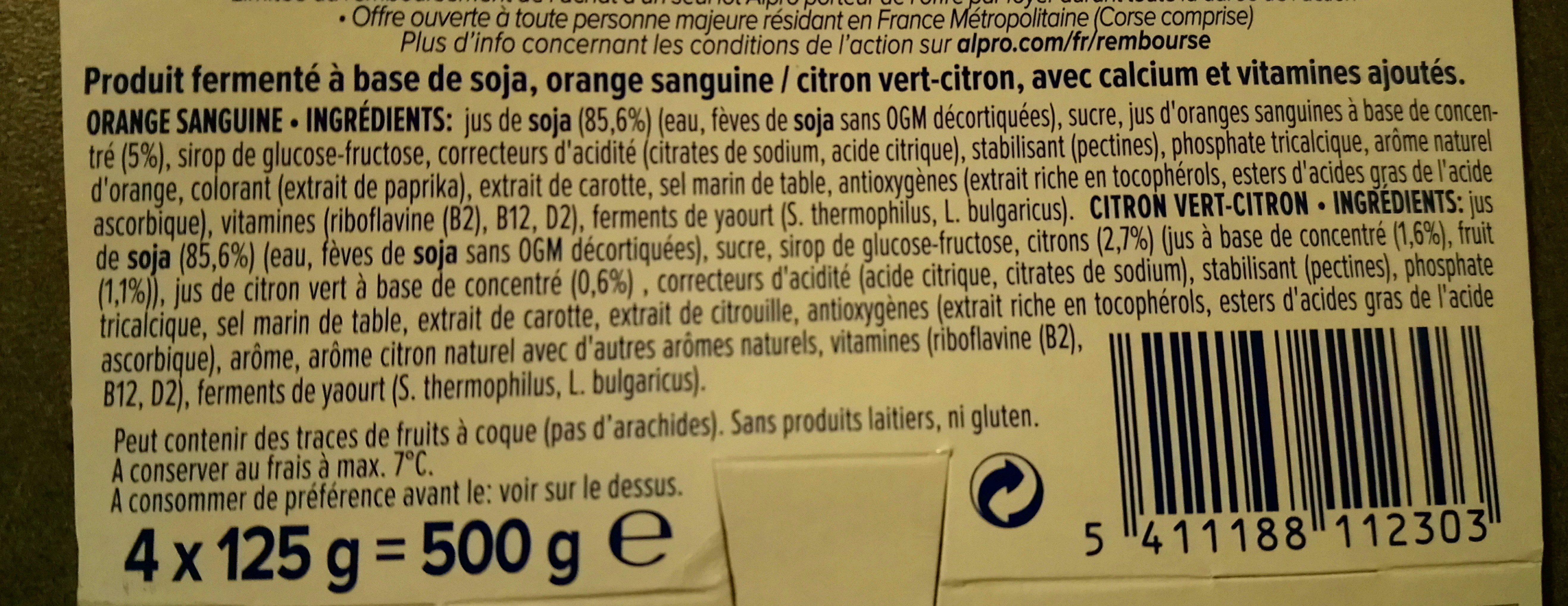 Yaourt agrumes - Ingrediënten - fr