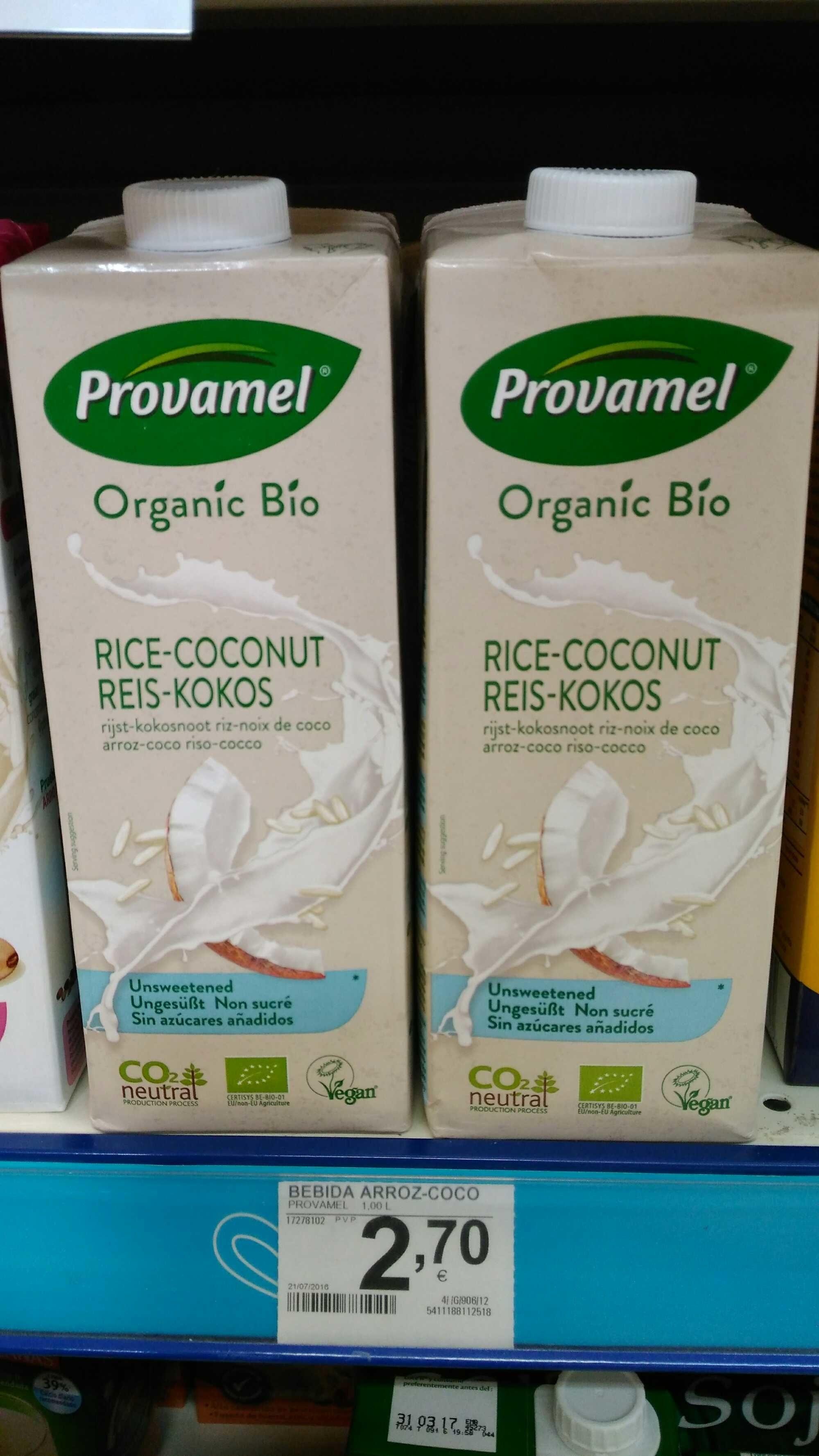 Boisson Au Riz Noix De Coco Bio - 1L - Provamel - Producto