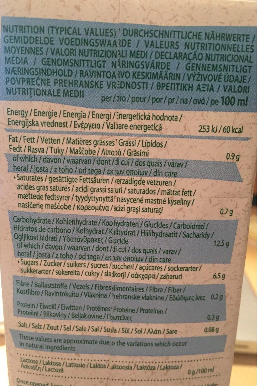 Boisson Au Riz Noix De Coco Bio - 1L - Provamel - Información nutricional