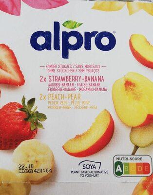 Alpro strawberry/ bandana et Peach/pezr - Product - fr