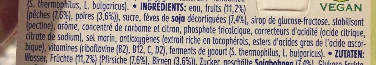Alpro strawberry/ bandana et Peach/pezr - Ingrediënten - fr