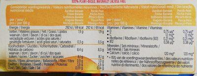 Alpro strawberry/ bandana et Peach/pezr - Voedingswaarden - fr